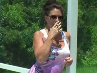 Amateur Mature Outdoor Smoking