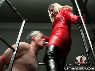 two extremely impressive naughty sweet part of latex milf angels