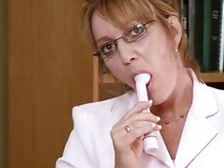Glasses Mature Office Secretary Solo Toy