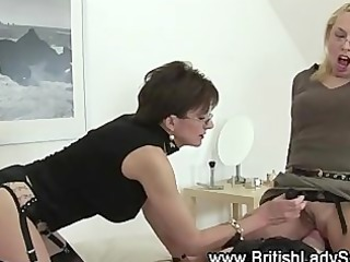 British Clothed European Facesitting Femdom Glasses Licking  Pornstar Slave