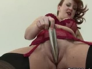 Dildo Lingerie Masturbating Mature  Pussy Shaved Toy