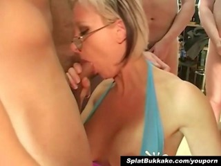 english bleached milf bukkake party