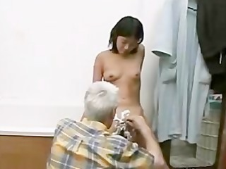 Asian Bathroom Daddy Daughter Old and Young Skinny Small Tits
