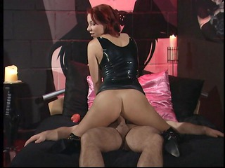 Ass Clothed Latex  Redhead Riding
