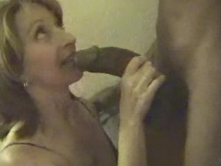 full-grown slut deepthroats very big brown penis