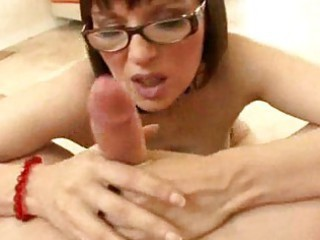 Amazing Blowjob Cute Glasses  Pornstar Pov