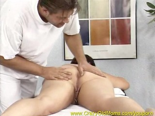 plump woman enjoys a massage