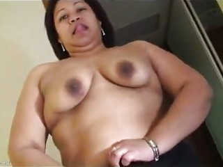 mature pushing dildo