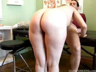pale grown-up sucks and bangs her nurse and takes a sperm