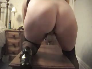 Ass Masturbating Mature Solo Stockings Toy