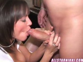 beautiful lady deepthroating again