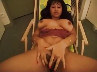 incomparable grown-up bushy indian girl loves to have a passion