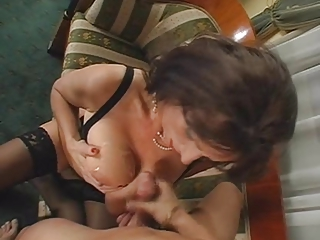 Big Tits Cumshot Mature Natural Stockings