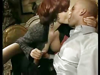 Amazing Big Tits European Handjob Kissing  Natural Pornstar Redhead Vintage