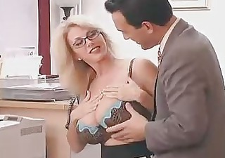 Amazing Big Tits Cute Glasses Lingerie  Office Secretary