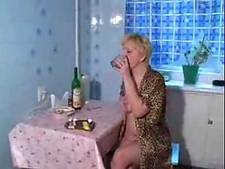 crotchety older  milf drilled by fresh lassie