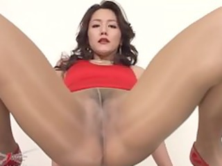 Amazing Asian Cute Japanese  Pantyhose Pornstar Solo