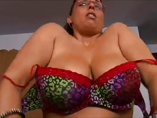Big Tits Glasses Lingerie