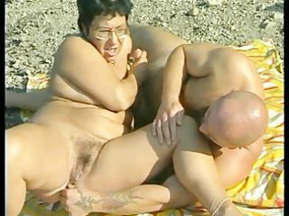 Beach Chubby Mature Outdoor Wife