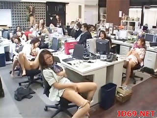 Asian Japanese Masturbating  Office Secretary