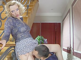 Amazing Clothed Licking  Russian