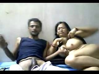 indian older  duo mr with an increment of mrs gupta inside webcam