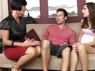 Daughter Family  Mom Old and Young Pornstar Teen Threesome