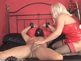 slutty housewife lana drives cock and forces slave to white cream