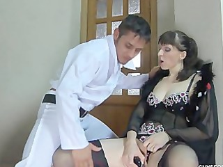 Lingerie Masturbating  Mom Old and Young Russian Stockings