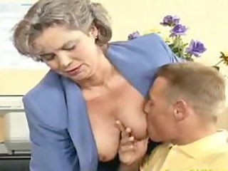 crazy elderly milf acquires penis drilled and agency dick sucking fuck