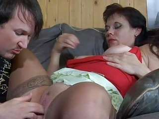 Fisting  Mom Old and Young Pussy Russian Shaved Stockings