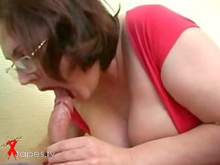 Blowjob Chubby Glasses