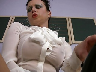 Big Tits Masturbating  Teacher