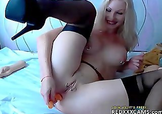 Amazing Cute Masturbating  Piercing Shaved Solo Toy Webcam