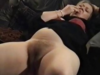 Amateur British  European Hairy Homemade Masturbating Mature Pussy Wife