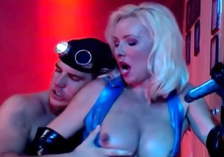 helen duval in latex, drilled hard and sucks large cock.