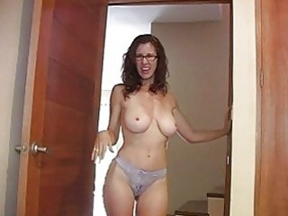 Amazing Big Tits Glasses  Panty