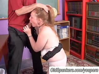 Blowjob Mature Older Redhead Teacher