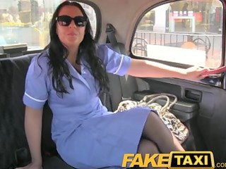Brunette Car  Nurse Uniform