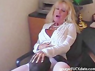 Amateur Clothed Licking Mature Office Secretary