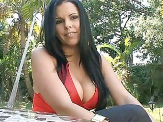 Big Tits Brunette  Mom Outdoor