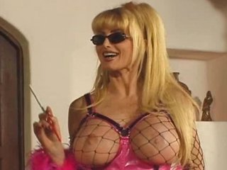Amazing Big Tits Blonde Fetish Fishnet  Smoking
