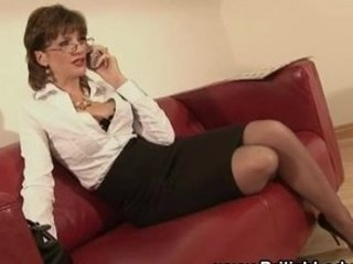 Amazing British European Glasses  Secretary Stockings
