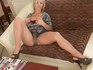 Amazing Cute Legs  Mom Pantyhose Solo