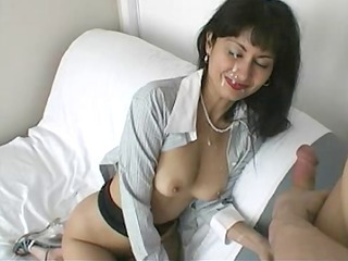astounding slut with nose ring acquires requested facial