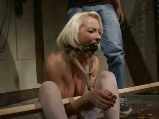 older  blonde gets bondaged and punished