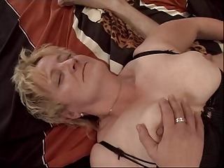 blond elderly fisted and gangbanged