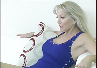 breasty ancient blonde receives will not hear of feet discouraged and then gives a foot job