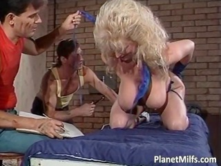 Amazing Big Tits  Natural Pornstar Threesome Vintage