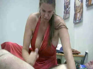 Big Tits Handjob  Mom Natural Old and Young Pornstar